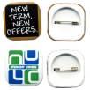 32mm Square Button Badges
