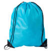 Budget Nylon Drawstring Bags in Sky Blue