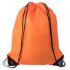 Budget Drawstring Bags in Orange