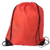 Budget Nylon Drawstring Bags in Red
