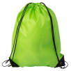 Budget Nylon Drawstring Bags in Lime Green