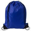 Budget Nylon Drawstring Bags in Mid Blue