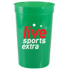 16oz Plastic Cups in Green