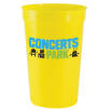 16oz Plastic Cups in Yellow