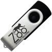 8GB Express Twist USB Flashdrives in Black