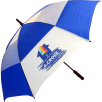 Auto Vent Umbrellas in Royal Blue/White