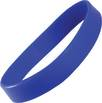 Express Silicone Wristbands in Medium Blue