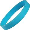 Express Silicone Wristbands in Light Blue