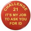Promotional 75mm Button badges with custom printed design from Total Merchandise