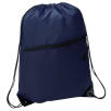Headphone Slot Drawstring Bags in Navy Blue