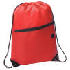 Headphone Slot Drawstring Bags in Red