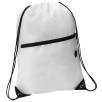 Headphone Slot Drawstring Bags in White