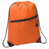 Headphone Slot Drawstring Bags in Orange
