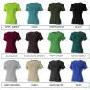 Ladies Cotton T-Shirts Colour Swatch 1 of 2