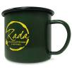 10oz Premium Enamel Mugs in Green