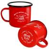 10oz Premium Enamel Mugs in Red