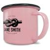 10oz Premium Enamel Mugs in Pink