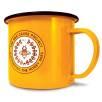 10oz Premium Enamel Mugs in Yellow