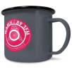 10oz Premium Enamel Mugs in Grey
