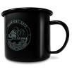 10oz Premium Enamel Mugs in Black