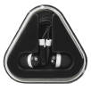 Triangle Case Earbuds in Black