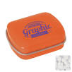Mini Rectangle Mint Tins in Orange