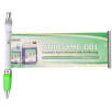 Curly Clip Banner Pens in Clear/Green