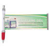 Curly Clip Banner Pens in Clear/Red