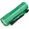 9 LED Metal Torches in Green