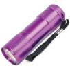 9 LED Metal Torches in Purple