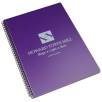 A4 Recycled Polypropylene Notepads in Berry Purple