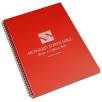 A4 Recycled Polypropylene Notepads in Fire Engine Red