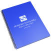 A4 Recycled Polypropylene Notepads in Royal Blue