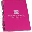 A5 Recycled Polypropylene Notepad in Cosmo PInk