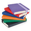 A5 Wide Strap Soft Touch PU Notebooks