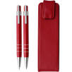 Aluminium Pen and Pencil Sets in Red
