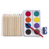 Branded colouring sets for school merchandise
