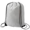 Budget Nylon Drawstring Bags in Grey