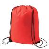 Budget Nylon Drawstring Bags in Warm Red