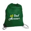 Budget Nylon Drawstring Bags in Dark Green