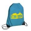 Budget Nylon Drawstring Bags in Sky Blue