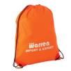 Budget Nylon Drawstring Bags in Orange