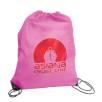Budget Nylon Drawstring Bags in Pink