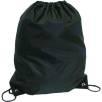 Budget Nylon Drawstring Bags in Black