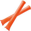 Cheering Bang Bang Sticks in Orange