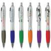Promotional Curvy Ballpens with silver barrels from Total Merchandise