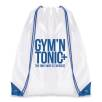 Dobson Drawstring Bags in White/Blue