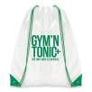 Dobson Drawstring Bags in White/Green