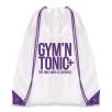 Dobson Drawstring Bags in White/Purple