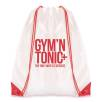 Dobson Drawstring Bags in White/Red